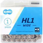 Kmc ketting singlespeed hl1 100l 1/2x1/8 wide zilv