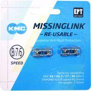 Kmc kettingschakel missinglink 7/8r ept zilver 7,3