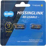 Kmc kettingschakel missinglink 9r ti-n goud (2)