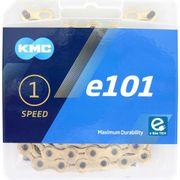 Kmc ketting singlespeed x101 112 links goud