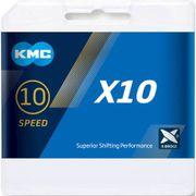 Kmc ketting 10-speed x10 122 links zilver / zwart