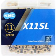 Kmc ketting 11-speed x11sl 118 links ti-n goud/zwa