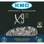 Kmc ketting 11/128 x9-73 grijs 9speed
