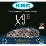 Kmc ketting 11/128 x9-93 zilver/grijs 9speed