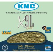 Kmc ketting 11/128 x9l ti-n goud 9speed light