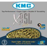 Kmc ketting 11/128 x9sl ti-n goud 9speed super lig