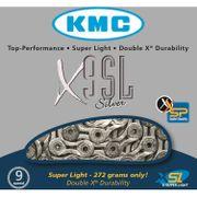 Kmc ketting 11/128 x9sl zilver 9speed super light