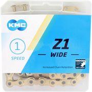 Kmc ketting singlespeed z1 112l 1/2x1/8 wide goud