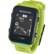Sigma sporthorloge id.tri neon green met sensorset