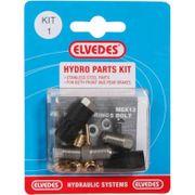 Hydraulische onderdelen Kit 1 M8+M8 RVS voor