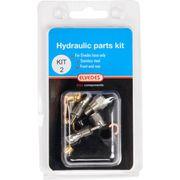 Hydraulische onderdelen Kit 2 M8 + banjo RVS voor