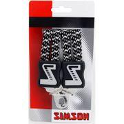 Simson snelbinder lang zwart/wit