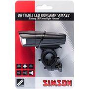 Simson koplamp voor amaze led batterij stuur 25 lu