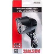 Simson koplamp voor truss led accu e-bike voorvork