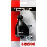 Simson dynamo links rubber loopwiel 2x2 polig zwar