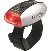 Sigma achterlicht Micro batterij zilver