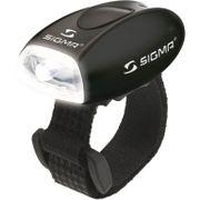 Sigma voorlamp micro zwart led wit