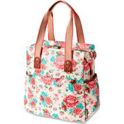 Basil Fietstas Bloom Shopper 20L Wit Gardenia
