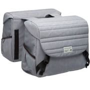 Dubbele Fietstas Mondi Joy Double - Quilted Grey -