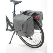 Dubbele fietstas Nova Double - 32 liter - grijs