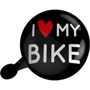UP Dingdong bel 80mm I Love My Bike zwart