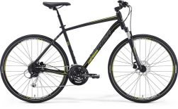 CROSSWAY 100 MATT BLACK/YELLOW/GREY 52 CM