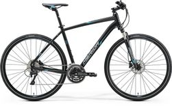 CROSSWAY 500 MATT BLACK/BLUE/GREY 61CM