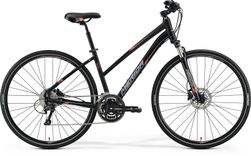 CROSSWAY 300 MATT BLACK/RED/GREY 57CM LADIES