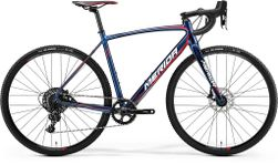 CYCLO CROSS 600 SHINY DARK BLUE/RED/WHITE M-L-54CM