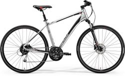 CROSSWAY 100 SHINY DARK SILVER/RED/BLACK M 51CM