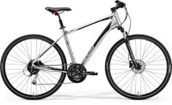 CROSSWAY 100 SHINY DARK SILVER/RED/BLACK L 55CM