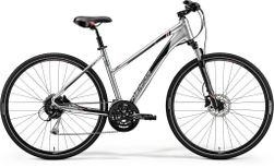 CROSSWAY 100 SHINY DARK SILVER/RED/BLACK S 47CM LA
