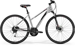 CROSSWAY 100 SHINY DARK SILVER/RED/BLACK M 51CM LA
