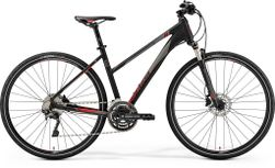 CROSSWAY 500 MATT BLACK/RED L 55CM LADIES