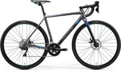MISSION CX 400 MATT SILVER/BLUE M 53CM