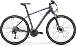 CROSSWAY 500 GLOSSY ANTHRACITE/BLACK SILVER L 55CM