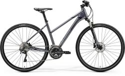 CROSSWAY 500 GLOSSY ANTHRACITE/BLACK SILVER M 51CM