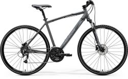 CROSSWAY 40 SILK ANTHRACITE/BLACK SILVER L 55CM