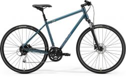 CROSSWAY 100 TEAL-BLUE/SILVER-BLUE/LIME S 47CM