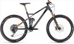 CUBE STEREO 140 HPC TM 27.5 GREY/ORANGE 2018 16""