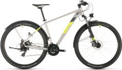 CUBE AIM ALLROAD SILVER/FLASHYELLOW 2020 14""