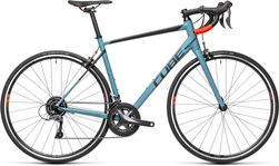 CUBE ATTAIN GREYBLUE/RED 2021 47 cm