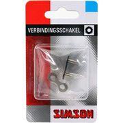 """Simson kettingschakel normaal maat 1/2""""x1/8"""" zwart"""