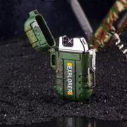 Explorer USB Plasma aansteker Army green