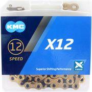 KMC ketting X12 gold/black 126s