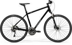 Merida Crossway 500 Glossy Black/matt Silver L 55cm