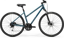 Merida Crossway 100 Ladies Teal Blue/silver Blue Lime M 5