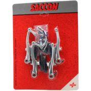 V-brakeset Saccon v.+a. zilver alu