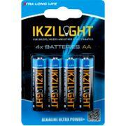 Batterijen Ikzi LR06 Alk AA Kaart (4)