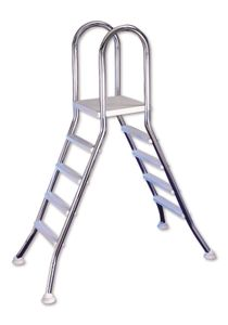 Interline Two-sided stainless steel ladder 120 cm, 2 x 4 steps